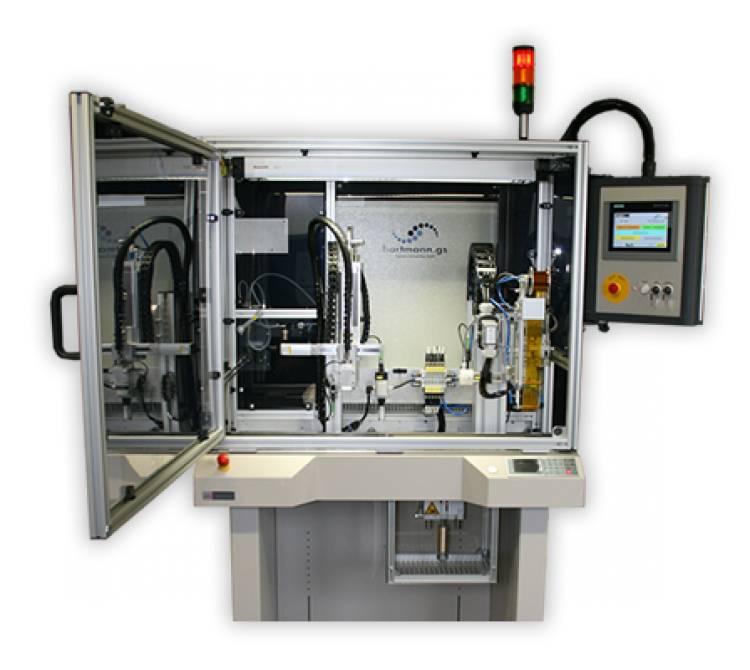 Inline Bügellötsystem aufgebaut auf einem Bandsegment
