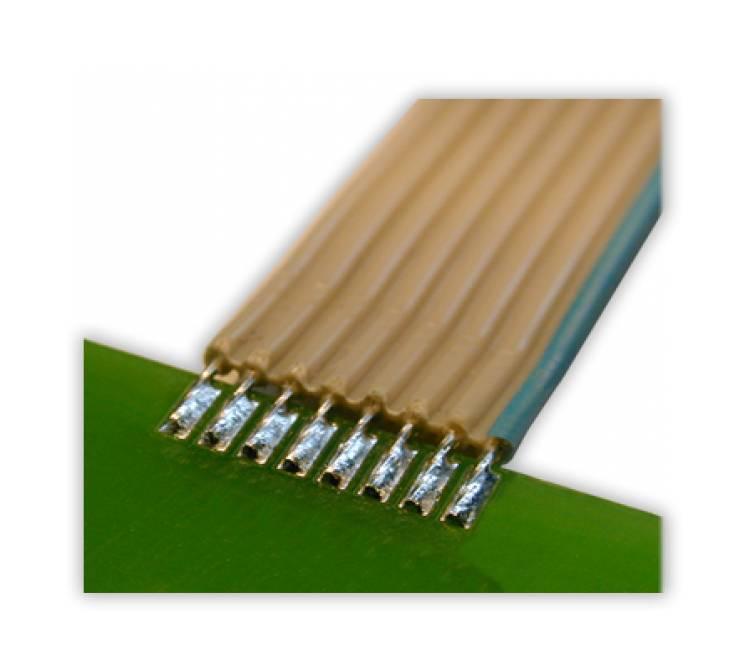 Lötung von Einzellitzen auf einer Leiterplatte